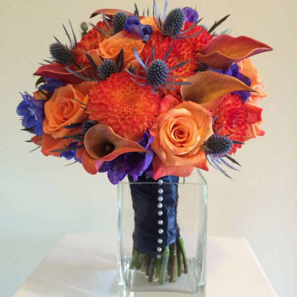 <p>Loved designing this fun colourful wedding bouquet.<br /> ©Christina Leaman</p>